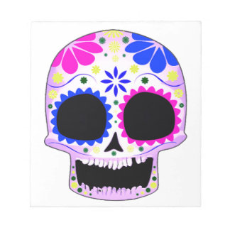 Sugar Skull - Tattoo Design Memo Note Pad