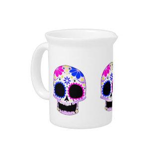Sugar Skull - Tattoo Design Drink Pitchers