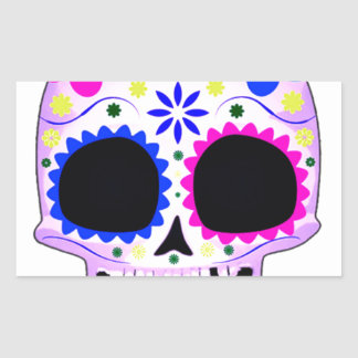 Sugar Skull - Tattoo Design Rectangular Sticker