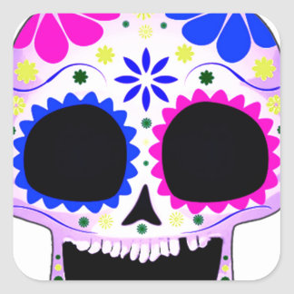 Sugar Skull - Tattoo Design Square Sticker