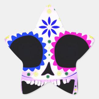 Sugar Skull - Tattoo Design Star Sticker