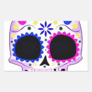 Sugar Skull - Tattoo Design Rectangle Stickers
