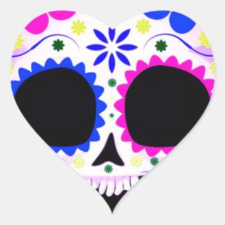 Sugar Skull - Tattoo Design Heart Sticker