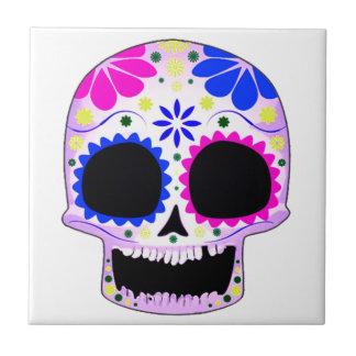 Sugar Skull - Tattoo Design Ceramic Tiles