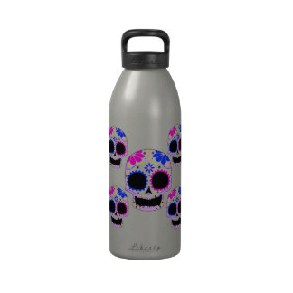 Sugar Skull - Tattoo Design Water Bottle