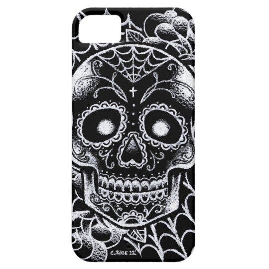 Sugar skull tattoo flash iphone se 5 5s case for Tattoo artist iphone cases