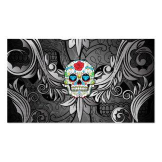 Sugar Skull Tattoo Parlor Business Card