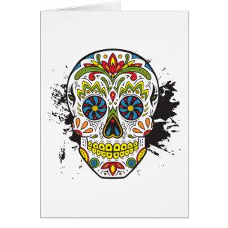 Sugar Skull, Tattoo Skull, Mexican Skull Greeting Card