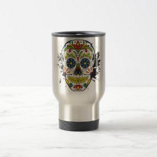Sugar Skull, Tattoo Skull, Mexican Skull Travel Mug