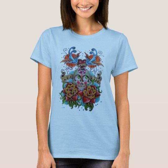 Sugar skull tattoo T-Shirt