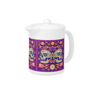 Sugar Skull Teapot Day of the Dead