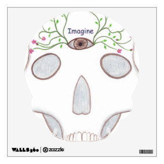 Sugar Skull, Third Eye, Flower Buds Wall Decals