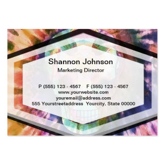 Sugar skull tie die colors beauty from within large business card