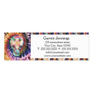 Sugar skull tie die colors beauty from within mini business card