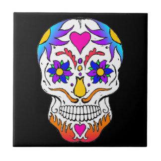 Sugar Skull Ceramic Tile