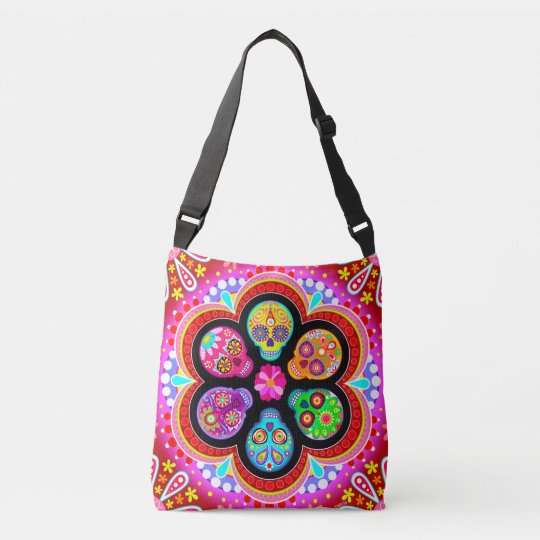Sugar Skull Tote Bag Cross Body