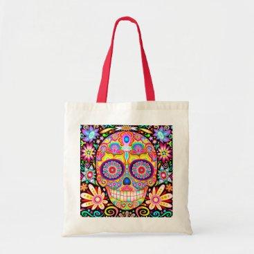 thaneeyamcardle Sugar Skull Tote Bag - Day of the Dead Art