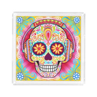 Sugar Skull Tray - Day of the Dead Art Tray