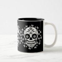 Sugar Skull Two-Tone Coffee Mug