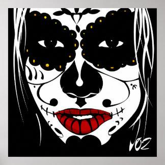 sugar skull vector poster