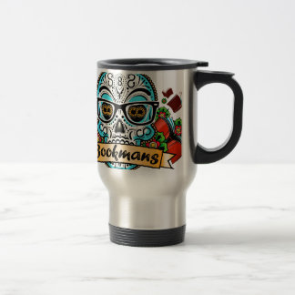 Sugar Skull W/ Glasses Travel Mug