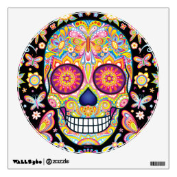 Sugar Skull Wall Decal - Day of the Dead Art