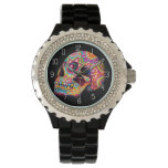 Sugar Skull Watch - Day of the Dead Art