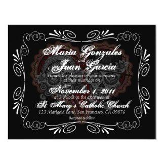 Sugar Skull Wedding Invitations Announcements Zazzle