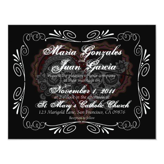 Sugar Skull Wedding Invitations   Zazzle.com