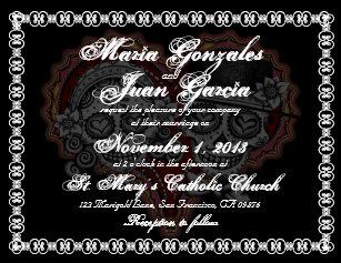 Skull Wedding Invitations   Zazzle