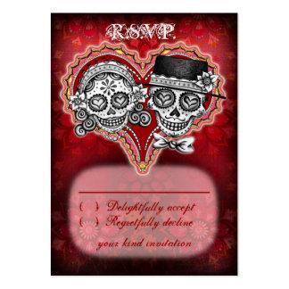 Sugar Skull Wedding RSVP Cards Business Card