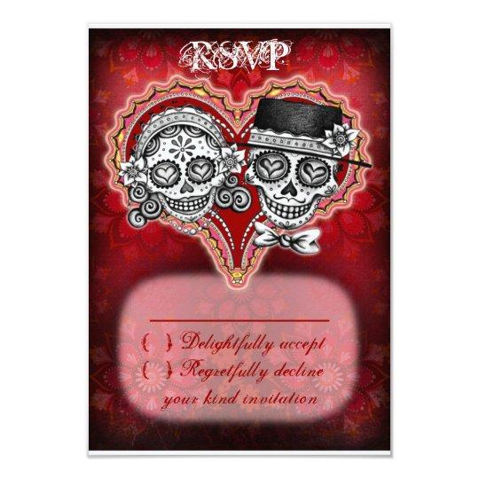 Sugar Skull Wedding RSVP Cards - Day of the Dead