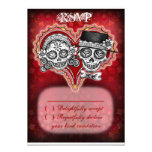 Sugar Skull Wedding RSVP Cards - Day of the Dead Announcements
