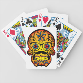 Sugar Skull with a Moustache and Glasses Deck Of Cards