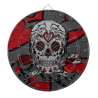 Sugar Skull with Crossbones Playing Card Design Dart Boards