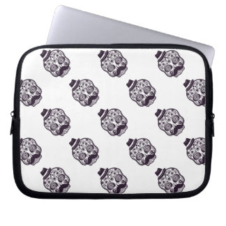 Sugar Skull with Fedora Hat Computer Sleeve