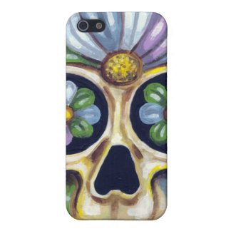 Sugar Skull with Flower iPhone SE/5/5s Case