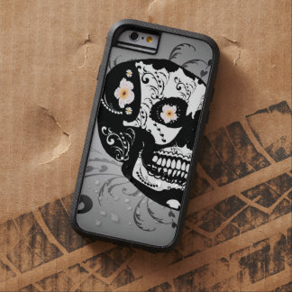 Sugar skull with flowers tough xtreme iPhone 6 case
