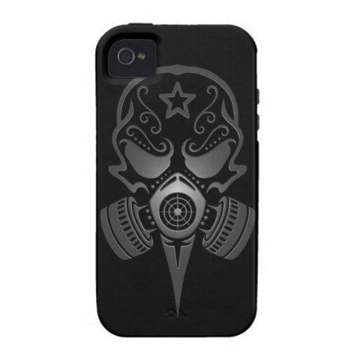 Sugar Skull with Gas Mask Case-Mate iPhone 4 Cases