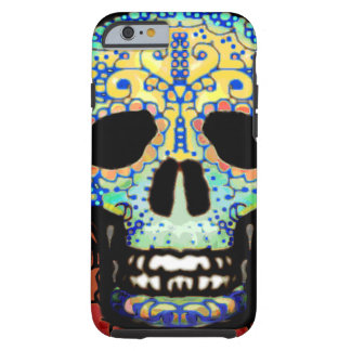 Sugar Skull with Roses Tough iPhone 6 Case