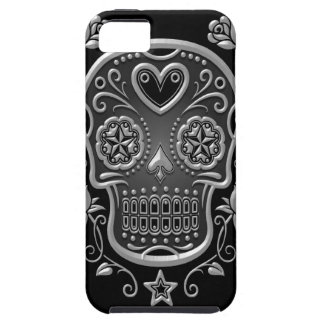Sugar Skull with Roses, dark iPhone SE/5/5s Case