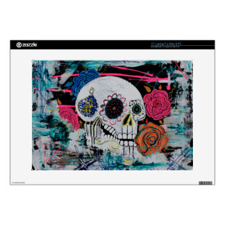 "Sugar Skull with Roses Skins For 15"" Laptops"