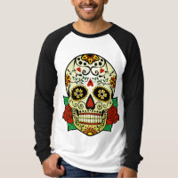 Sugar Skull with Roses T-Shirt