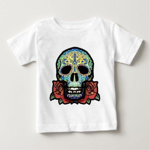 Sugar Skull with Roses Tee Shirt