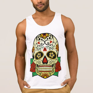 Sugar Skull with Roses Tank Top