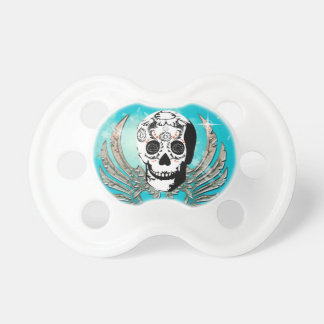 Sugar skull with wings made of metal BooginHead pacifier