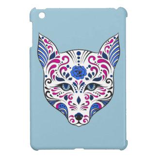 Sugar Skull Wolf Head Blue Purple iPad Mini Covers