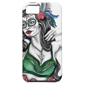 Sugar Skull Woman with Roses iPhone SE/5/5s Case
