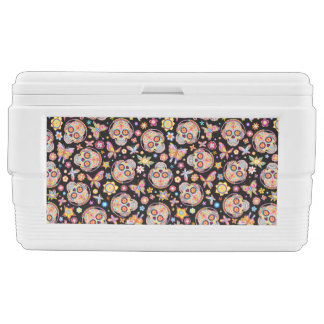Sugar Skulls 48 Quart Cooler - Day of the Dead Art