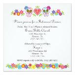 Sugar Skulls and Flowers Wedding Invitation